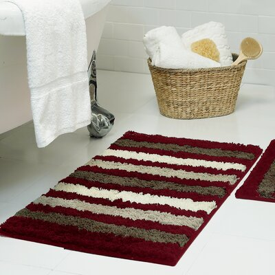 Dmitri Microfiber Bath Rug Size: 18 x 30, Color: Barn Red