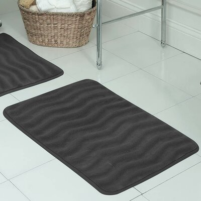 Behnke Micro Plush Memory Foam Bath Mat Size: 20 W x 32 L, Color: Dark Grey