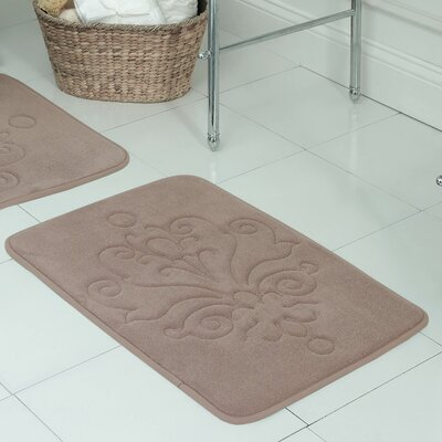 Reve Plush Memory Foam Bath Mat Color: Linen, Size: 20 W x 32 L