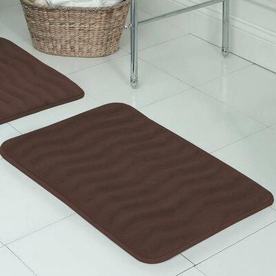 Behnke Micro Plush Memory Foam Bath Mat Size: 17 W x 24 L, Color: Mocha