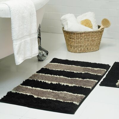 Herald Microfiber Bath Rug Size: 18 x 30, Color: Black