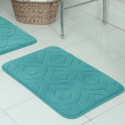 Naoli Plush Memory Foam Bath Mat Color: Turquoise, Size: 20