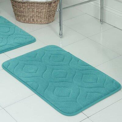 Belhaven Plush Memory Foam Bath Mat Size: 20 W x 34 L, Color: Turquoise