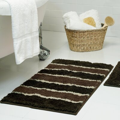 Herald Microfiber Bath Rug Size: 16 x 24, Color: Chocolate