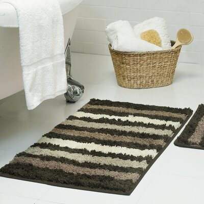 Goodloe Microfiber Bath Rug Size: 16 x 24, Color: Chocolate