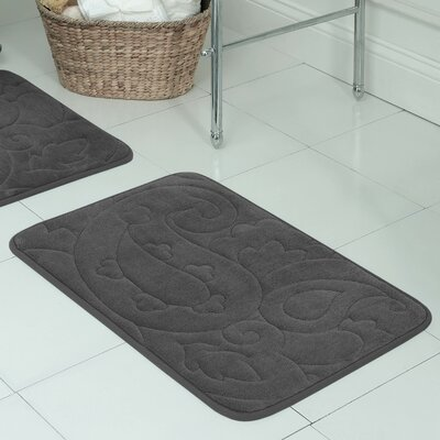Pelton Plush Memory Foam Bath Mat Color: Dark Gray, Size: 20 W x 32 L