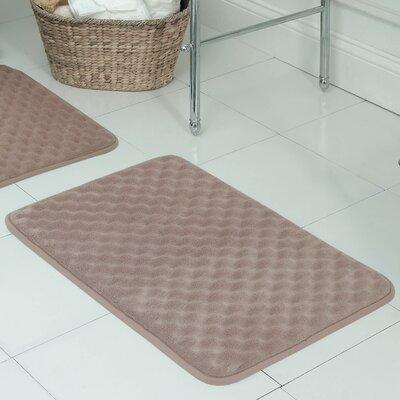 Witmer Micro Plush Memory Foam Bath Mat Size: 17 W x 24 L, Color: Linen
