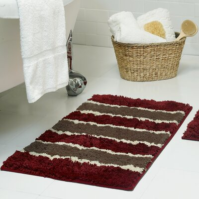 Herald Microfiber Bath Rug Size: 16 x 24, Color: Barn Red