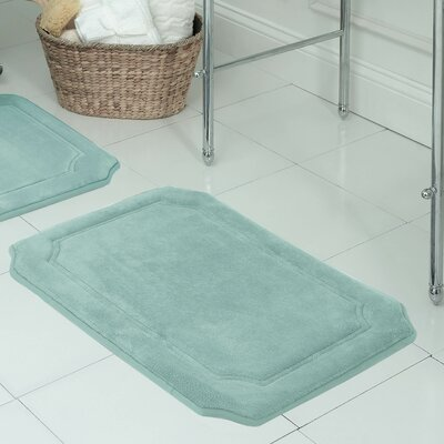 Walden Premium Micro Plush Memory Foam Bath Mat Size: 17 W x 24 L, Color: Light Grey