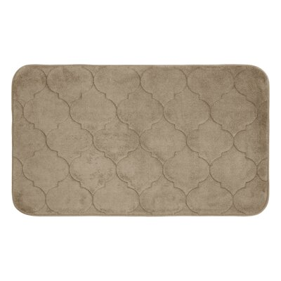Faymore Micro Plush Memory Foam Bath Mat Color: Linen, Size: 24 H x 17 W