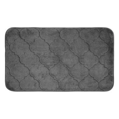 Faymore Micro Plush Memory Foam Bath Mat Color: Dark Grey, Size: 24 H x 17 W