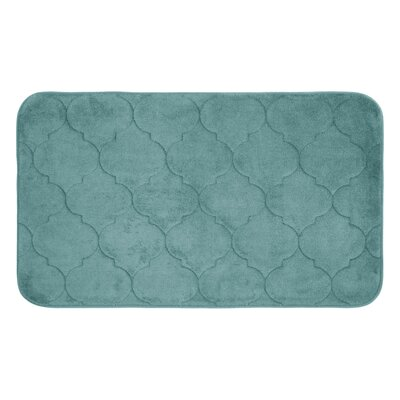 Faymore Micro Plush Memory Foam Bath Mat Color: Marine Blue, Size: 34 H x 20 W