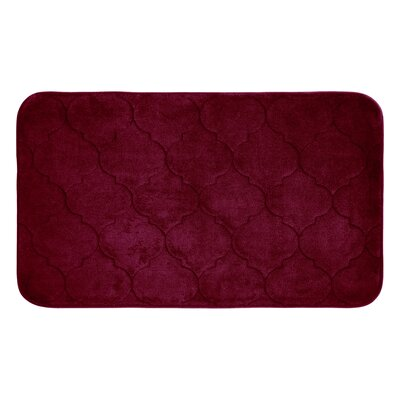 Faymore Micro Plush Memory Foam Bath Mat Color: Barn Red, Size: 24 H x 17 W