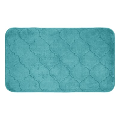 Faymore Micro Plush Memory Foam Bath Mat Color: Turquoise, Size: 24 H x 17 W