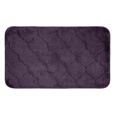 Albermarle Micro Plush Memory Foam Bath Mat Color: Plum, Size: 34