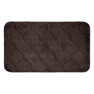 Albermarle Micro Plush Memory Foam Bath Mat Color: Espresso, Size: 34 H x 20 W