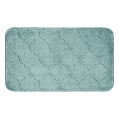 Faymore Micro Plush Memory Foam Bath Mat Color: Aqua, Size: 34 H x 20 W