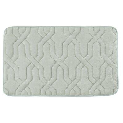 Drona Premium Micro Plush Memory Foam Bath Mat Size: 17 W x 24 L, Color: Light Grey