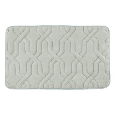 Drona Premium Micro Plush Memory Foam Bath Mat Size: 20 W x 32 L, Color: Light Grey
