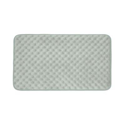 Massage Premium Micro Plush Memory Foam Bath Mat Size: 17 W x 24 L, Color: Light Grey