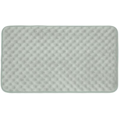 Massage Premium Micro Plush Memory Foam Bath Mat Size: 20 W x 32 L, Color: Light Grey