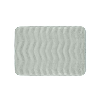 Waves Premium Micro Plush Memory Foam Bath Mat Size: 17 W x 24 L, Color: Light Grey