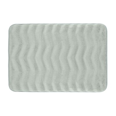 Waves Premium Micro Plush Memory Foam Bath Mat Size: 20 W x 32 L, Color: Light Grey