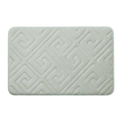 Caicos Premium Micro Plush Memory Foam Bath Mat Color: Light Grey, Size: 17 L x 24 W