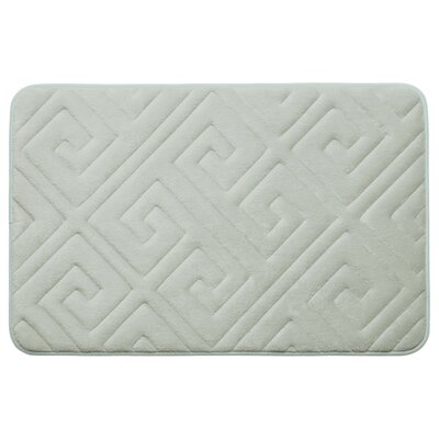 Caicos Premium Micro Plush Memory Foam Bath Mat Color: Light Grey, Size: 20 L x 32 W