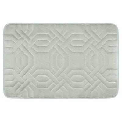 Chain Ring Premium Micro Plush Memory Foam Bath Mat Color: Light Grey, Size: 32 x 20