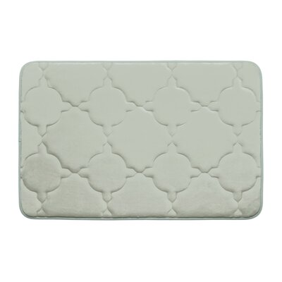 Dorothy Premium Micro Plush Memory Foam Bath Mat Color: Light Grey, Size: 24 x 17