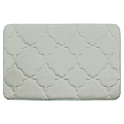 Dorothy Premium Micro Plush Memory Foam Bath Mat Color: Light Grey, Size: 32 x 20