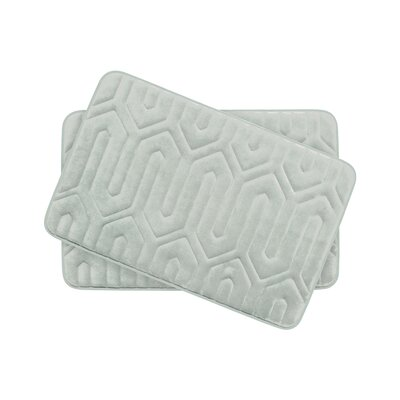 Thea Small Premium Micro Plush Memory Foam Bath Mat Set Color: Light Grey