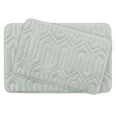 Thea Large Premium Micro Plush Memory Foam Bath Mat Set Color: Light Grey
