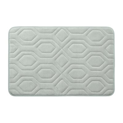 Turtle Shell Premium Micro Plush Memory Foam Bath Mat Color: Light Grey, Size: 17 W x 24 L