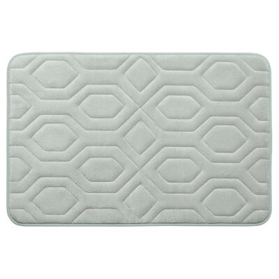 Turtle Shell Premium Micro Plush Memory Foam Bath Mat Color: Light Grey, Size: 20 W x 32 L