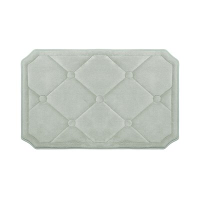 Gertie Premium Micro Plush Memory Foam Bath Mat Color: Light Grey, Size: 24 x 17