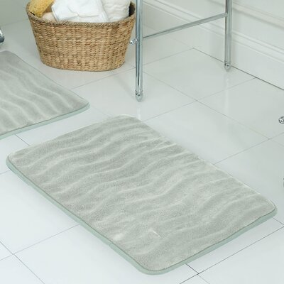 Behnke Micro Plush Memory Foam Bath Mat Size: 17 W x 24 L, Color: Light Grey