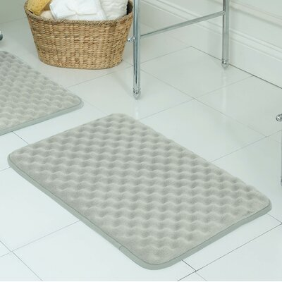 Witmer Micro Plush Memory Foam Bath Mat Size: 17 W x 24 L, Color: Light Grey