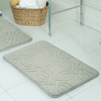 Westerberg Micro Plush Memory Foam Bath Mat Color: Light Grey, Size: 32 x 20