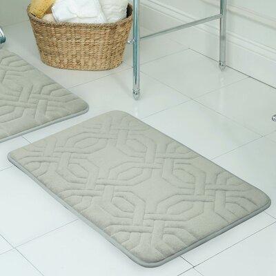 Westerberg Micro Plush Memory Foam Bath Mat Color: Light Grey, Size: 24 x 17
