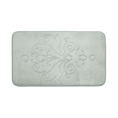 Broadbent Plush Memory Foam Bath Mat Size: 17 W x 24 L, Color: Light Grey