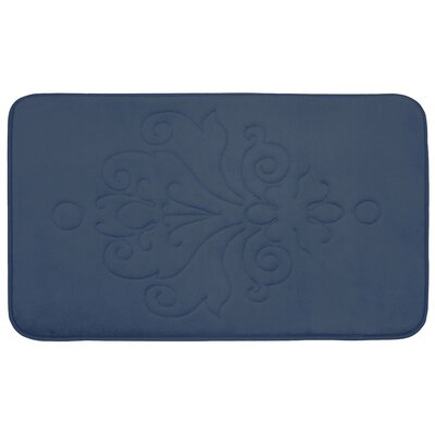 Broadbent Plush Memory Foam Bath Mat Size: 20 W x 32 L, Color: Dusty Blue