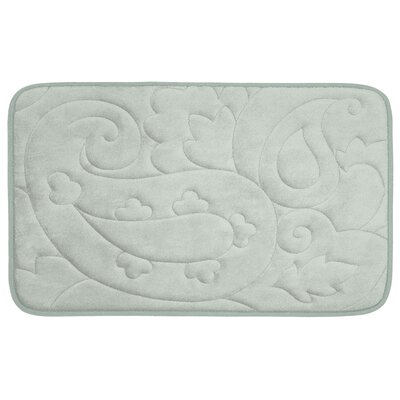Pelton Plush Memory Foam Bath Mat Size: 17 W x 24 L, Color: Light Grey