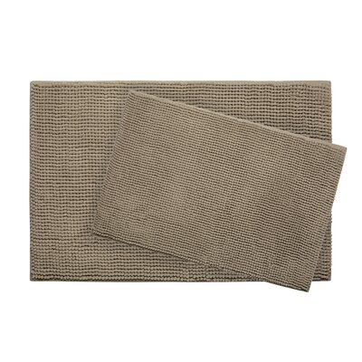 Plush Memory Foam Chenille Cushioned Bath Mat Color: Linen, Size: 30 x 20