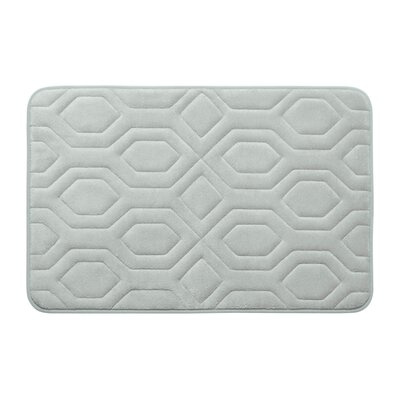 Turtle Shell Premium Micro Plush Memory Foam Bath Mat Size: 17 W x 24 L, Color: Light Grey