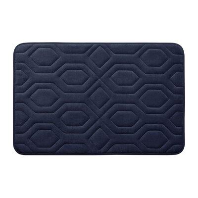 Turtle Shell Premium Micro Plush Memory Foam Bath Mat Size: 20 W x 32 L, Color: Indigo