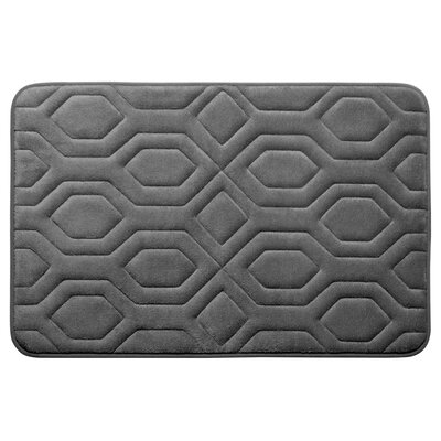 Turtle Shell Premium Micro Plush Memory Foam Bath Mat Size: 17 W x 24 L, Color: Dark Grey