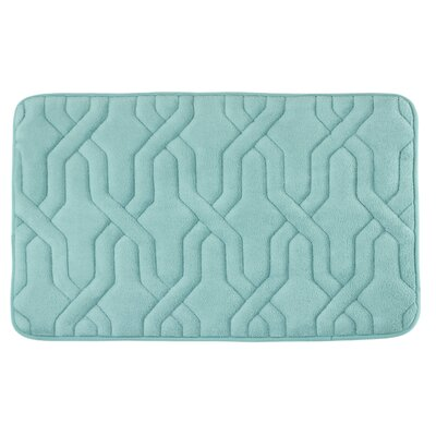 Drona Premium Micro Plush Memory Foam Bath Mat Size: 20 W x 32 L, Color: Dusty Blue