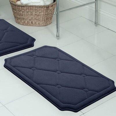 Gertie Premium Micro Plush Memory Foam Bath Mat Color: Indigo, Size: 24 x 17